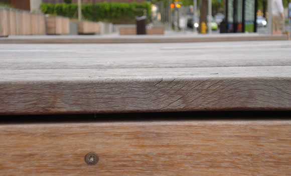 gates foundation sidewalk benches
