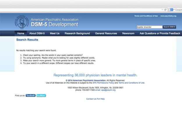 screen shot dsm5 bipolar search