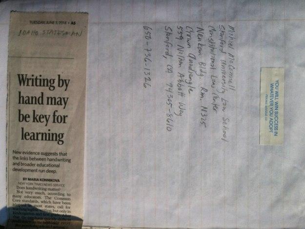 handwriting-journal