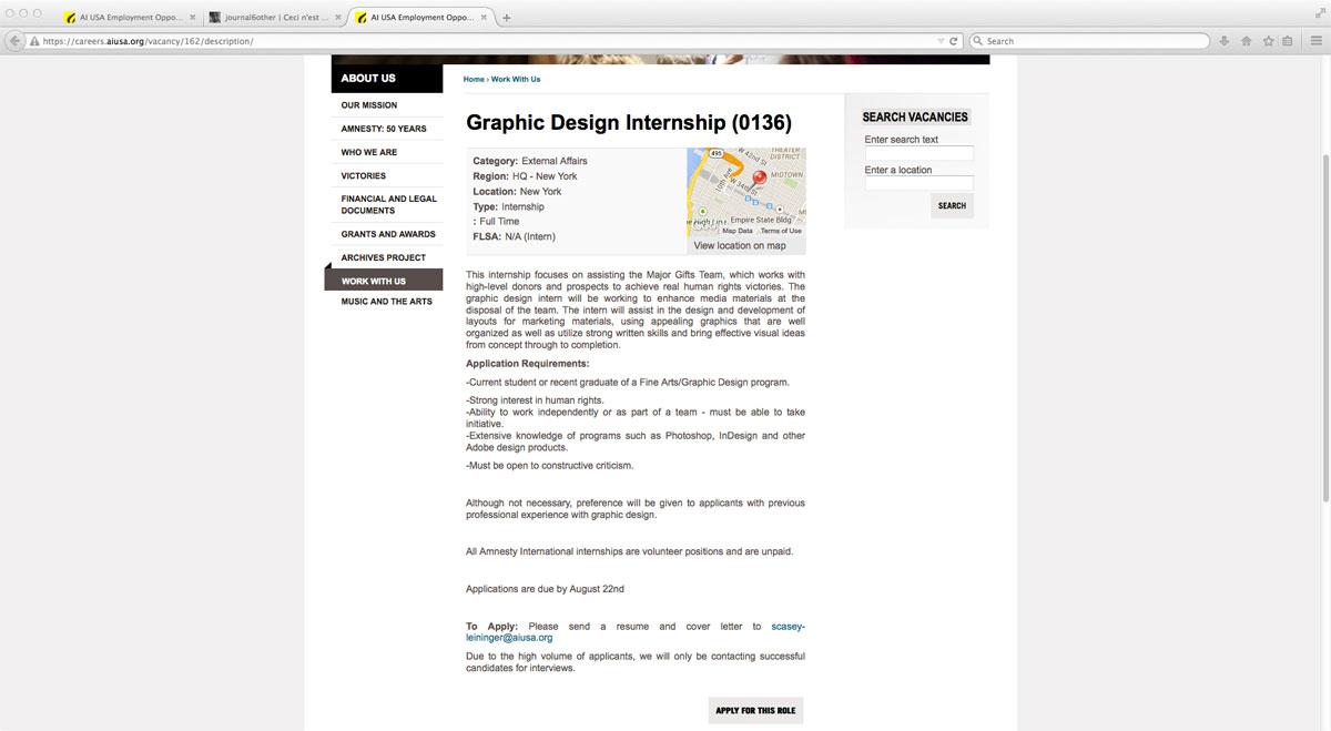 Vice Graphic Design Internship