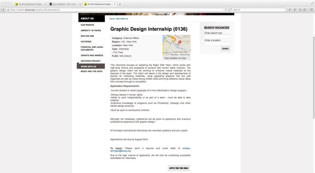 graphic design unpaid internship