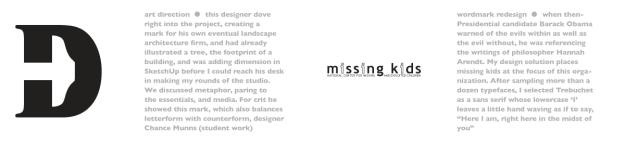 missing kids rebrand