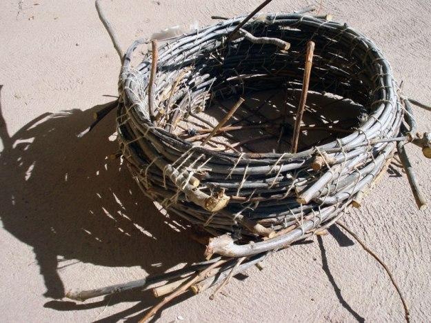 plum branch basket