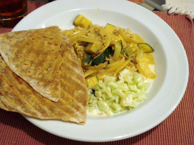 parathas curry raita