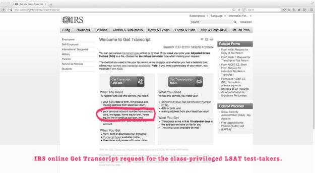 irs get transcript request