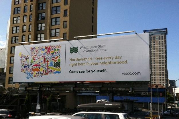 wa state convention center art